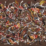 One of the paintings owned by Matter who claims it is one of thirty-two recently uncovered original paintings by Pollock.