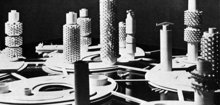 Model of floating city, Kiyonori Kikutake, 1962