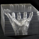 Michael Mittelman, hand.005, 2013, stacked acrylic, 5 x 6 x 4 inches.