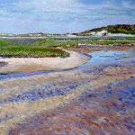 Karen McFeaters, Provincetown Marshes, Acrylic on Canvas, 2013.