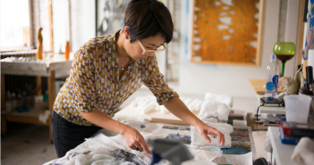Lucy Kim in her studio Photo: Shane Godfrey