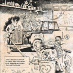 Illustration from the book Lowriders in Space (Book 1), written by Cathy Camper and illustrated by Raúl Gonzalez (Chronicle Books, Fall 2014) Image courtesy of Raúl Gonzalez and Chronicle Books