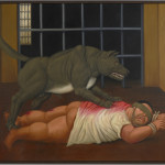 Fernando Botero Colombian, b. 1932 Abu Ghraib #45, 2005 Oil on canvas University of California, Berkeley Art Museum and Pacific Film Archive Gift of the Artist, 2009.12.25 Photographed for the UC Berkeley Art Museum by Benjamin Blackwell