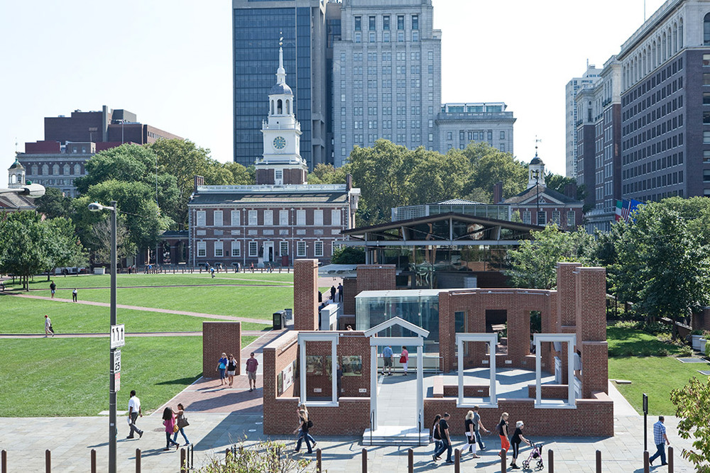Contemporary photograph of the President's House Image courtesy of Philadelphia Visitor's Center.