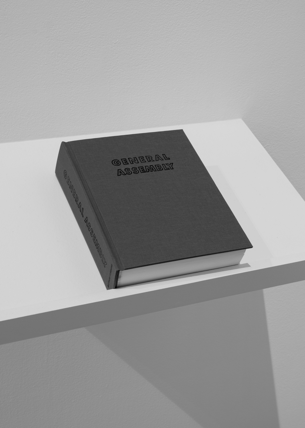 General Assembly Photographs and text by Matthew Connors 665 pages Inkjet prints Hardcover, bound by hand, 7.75 x 9.75 inches