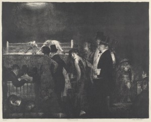 George Bellows Preliminaries to the Big Bout, 1916 Lithograph 15 3/4 × 19 5/8 in; 40 × 49.8 cm Courtesy National Gallery of Art, Washington National Gallery of Art, Washington D.C.