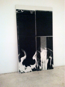Wade Guyton/Karma Project Room at the New York Art Book Fair. Low quality phone pictures courtesy of author.