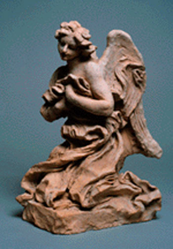 Gian Lorenzo Bernini, Kneeling Angel, Terracotta, 1673.