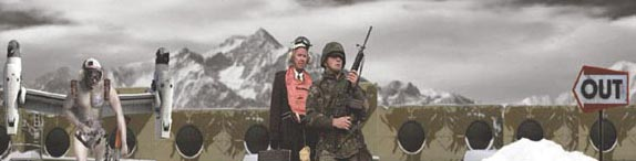 Terrafarmer Collective, 15 Reasons to Go to War, video installation, 2004