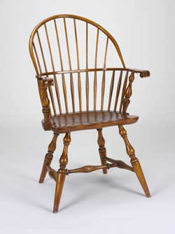 American, A. H. Davenport/Irving and Casson, manufacturers, Sack-back Windsor armchair, ca. 1920. Pine, maple and oak. Museum of Art, Rhode Island School of Design. Gift of FleetBoston Financial.