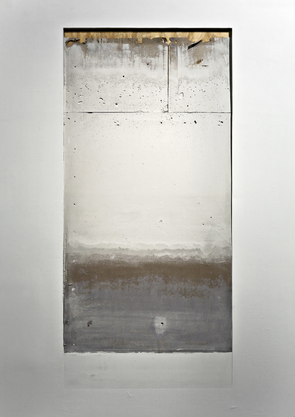 Wilson Lawrence, Sift, 2010, Museum wall, 52 x 24 x —½ inches Courtesy of the artist
