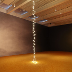 Felix Gonzalez-Torres (b. 1957 Guaimaro, Cuba—d. 1996 Miami, FL)  Untitled (Couple), 1993 Light bulbs, porcelain light sockets, and extension cords (two parts) Dimensions variable Collection Mr. and Mrs. Jeffrey R. Winter  Untitled, 1992—93 Billboard (two parts) Dimensions variable Collection Sammlung Hoffmann, Berlin  Courtesy New Museum, New York. Photo: Benoit Pailley