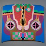 Judy Chicago (American, born 1939). Birth Hood, 1965/2011. Sprayed automotive lacquer on car hood, 42 7/8 x 42 7/8 x 4 5/16 in. (109 x 109 x 10.9 cm). Courtesy of the artist. © Judy Chicago. Photo © Donald Woodman