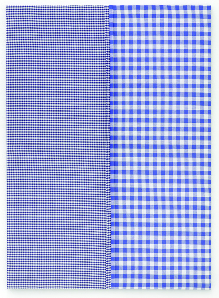 Michael Krebber, Untitled, Fabric on canvas, 120 x 90 cm, 2006. Courtesy of dépendance, Brussels