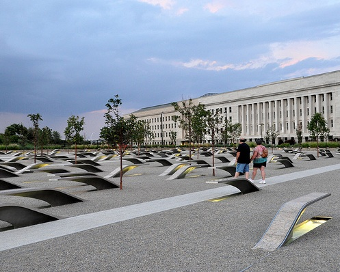 The memorial honoring the victims of the 9/11 terrorist attack on the Pentagon. (Photo Credit: Kevin Harb-from Flickr)