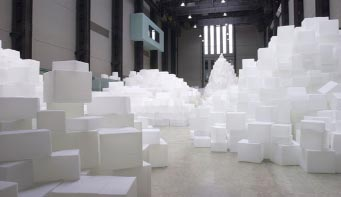 Rachel Whiteread, Embankment installation view, Turbine Hall, Tate Modern, 2005.