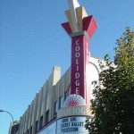 The Coolidge Corner Theatre Marquee and Canopy created in 2002. Aluminum, steel, plexiglass and neon.