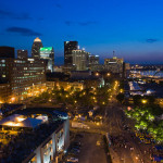 Looking out over the Louisville skyline. Photo by David Harpe.
