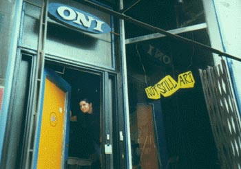Oni Gallery, in it's early days on Kingston Street, circa 1999.