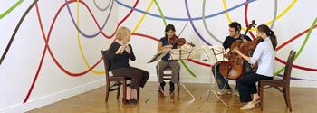 Paula Robison, Harumi Rhodes, Eric Jacobsen, and Julianne Lee performing, 2005