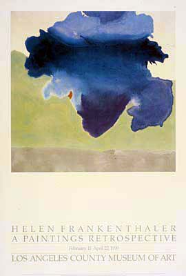 Helen Frankenthaler, The Bay, oil on canvas, 1963 - illustrated here in a lithograph poster for Los Angeles County Museum of Art advertising a retrospective of the artist's work.