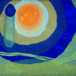 Arthur Dove, Sunrise I, 1936. Tempera on canvas, 25 x 35 in. (63.5 x 88.9 cm). Collection of Deborah and Ed Shein Courtesy of and copyright The Estate of Arthur Dove / Courtesy Terry Dintenfass, Inc.