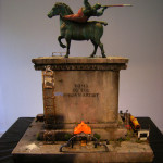Peter Waite, Tomb, 2008. Mixed media: studio detritus, paint scrapings, found objects, personal artifacts, junk, etc.