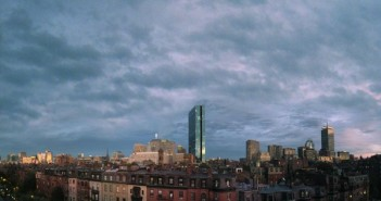 A lazy summer view of the Boston skyline