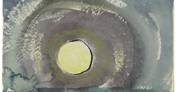 Arthur Dove (United States, 1880–1946), Sunrise, 1937, opaque and transparent watercolor, pen and ink on ivory wove watercolor paper, 5 x 7 inches. Wadsworth Atheneum Museum of Art, The Ella Gallup Sumner and Mary Catlin Sumner Collection Fund, 1955.265.
