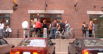 On the Town: Thayer St (Now known as SoWa) during an opening at Gallery fx in 2000