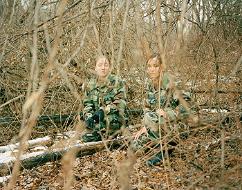Claire Beckett, Private First Class Natalie Bazinet and Private First Class Danielle Stapleton, Taunton, MA, from the series In Training, chromogenic print, 2006