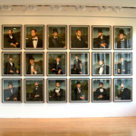 One Lincoln is much like another in this grid of photographs by Greta Pratt.