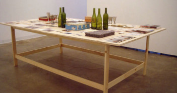 Andrew Witkin, untitled, 1997-2007, approximately 54 groupings in assorted media on table, approximately 31 x 96 x 56 inches