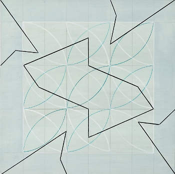 Anne Krinsky, Diagonal Thinking 22, Acrylic and Pencil on Paper, 2007.