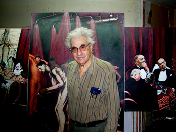 Arnold Trachtman in the studio.