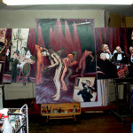 A view of new work in the studio.