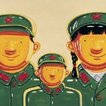 On view at ART Santa Fe: Shen Jingdong, Soldier Family, oil on canvas, 2008 Chinasquare