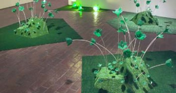 Leah Johnstone-Mosher, Garden, Astroturf, wire, lights and circuit boards, 2006