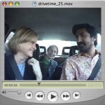 Ravi and Sonia (in the back seat) welcome the co-host to the venerable New England television news magazine Chronicle, Mary Richardson.