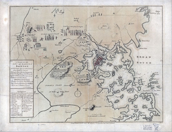 You Are in Charge of Your Own Revolution: Showing the Place of Engagement Between the King's Troops and the Provincials, 1775; a survey made just after the opening battles of Lexington and Concord, starting the American Revolution.