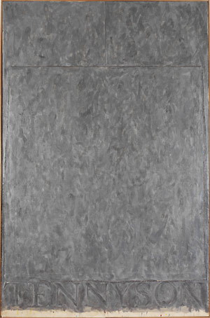 Jasper Johns, Tennyson, Encaustic and collage on canvas, 1958