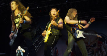 Iron Maiden, an example of a metal band. (Photo by Luke Seagrave / Phil Bull)