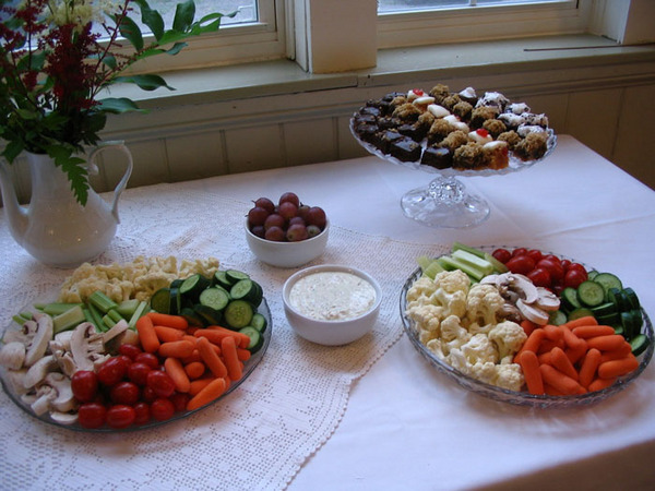 Example of food at an opening