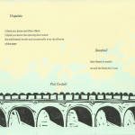 A manila broadside by Phil Cordelli (poet) & Sadie Bliss (artist), in collaboration with The So And So Series