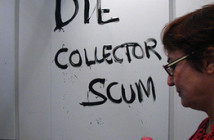 One Liners and Double Dares: Merlin Carpenter's Die Collector Scum reportedly sold on the first day of Art Basel.