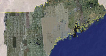 Via Google Earth, a map of the region affected by this change.