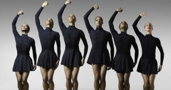 Dancers in Enemy Behind the Gates. Erin Barnett, Erin Moore, Mora Amina Parker, Teneise Mitchell, Odara Jaeali-Nash and Tracy Vogt of Philadanco. Photo by Lois Greenfield, 2007.
