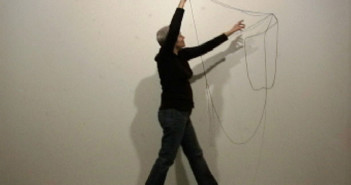 Nancy Murphy Spicer, Hanging Drawings 1 (20 Successive Drawings, Unique and Unrehearsed), Video Demonstration, 2007. Image Courtesy of Spicer.