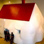 Erwin Wurm's Fat House at the Rose Art Museum.