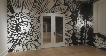 Paul Morrison, Exine, wall painting, 2008, Installation View.